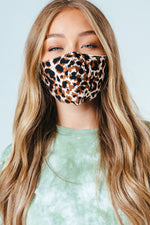 HYPE ADULT BROWN LEOPARD ADJUSTABLE FACE MASK