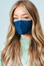 HYPE ADULT BLUE GEO ADJUSTABLE FACE MASK