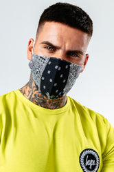 HYPE ADULT BLACK BANDANA ADJUSTABLE FACE MASK