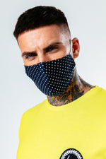 HYPE ADULT NAVY DOTTY ADJUSTABLE FACE MASK