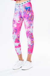 HYPE PINK CLOUD MYSTIC KIDS LEGGINGS