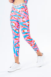 HYPE PINK ZEBRA KIDS LEGGINGS