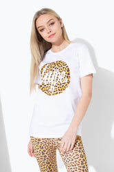 HYPE LEOPARD SCRIPT CIRCLE KIDS T-SHIRT
