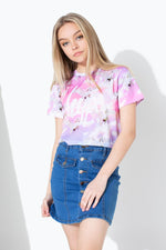HYPE UNICORN SKIES KIDS CROP T-SHIRT