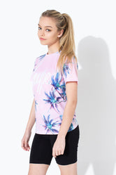 HYPE PINK PALM KIDS T-SHIRT