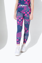HYPE GEO CAMO SPOTS KIDS LEGGINGS
