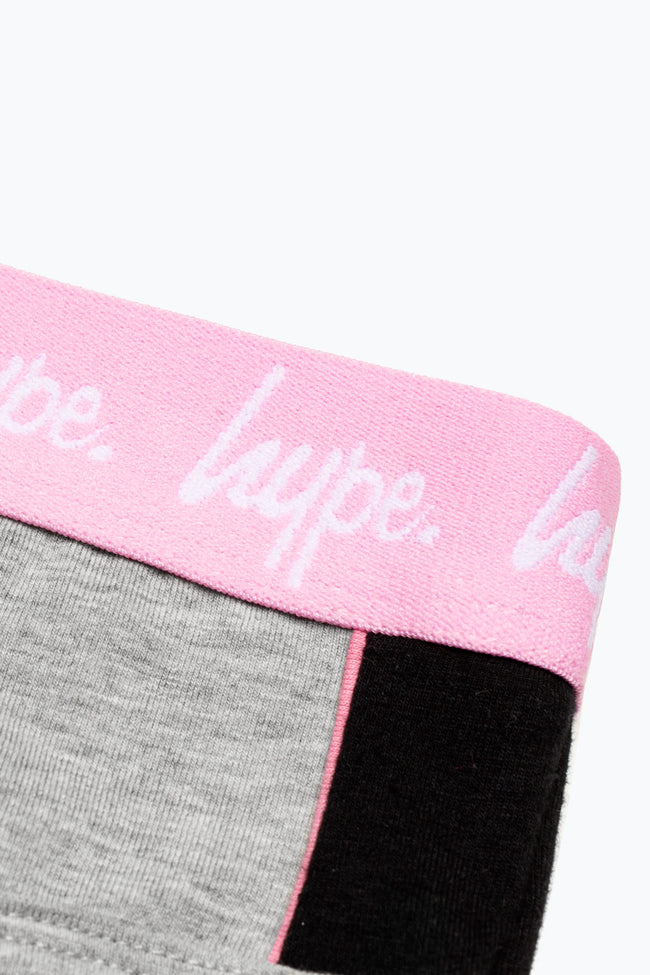 HYPE GREY PANEL KIDS UNDERWEAR SET