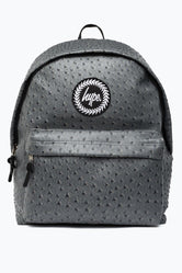 HYPE GREY OSTRICH BACKPACK