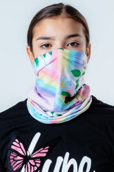 HYPE DAISY RAINBOW CAMO SNOOD HEADWEAR