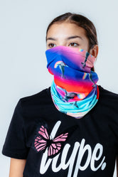 HYPE RAINBOW DOLPHIN SNOOD HEADWEAR