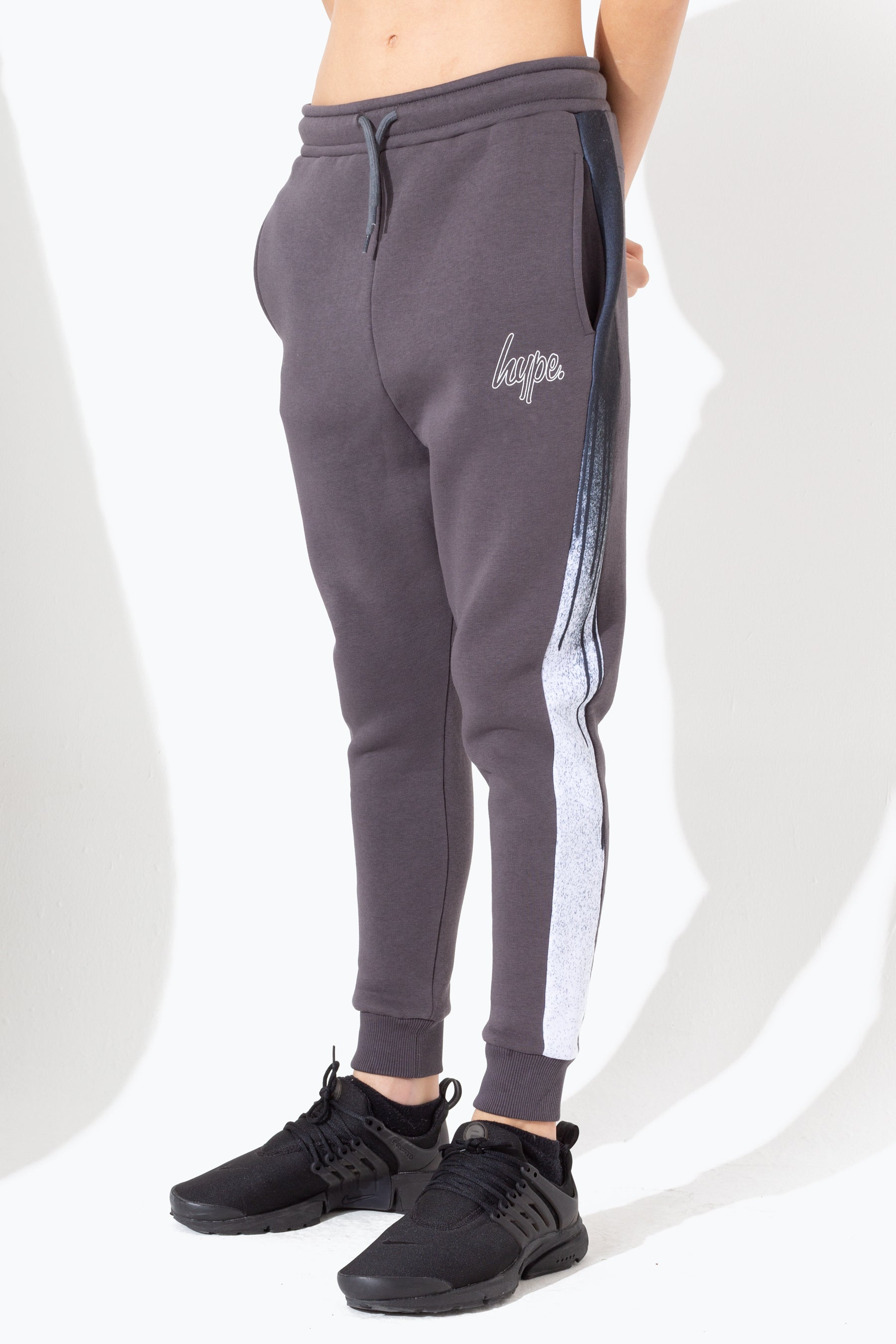 Hype Charcoal Drip Panelled Kids Joggers | Size 14Y