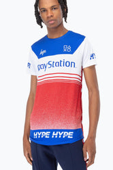 HYPE PLAYSTATION MULTI RACER MENS T-SHIRT