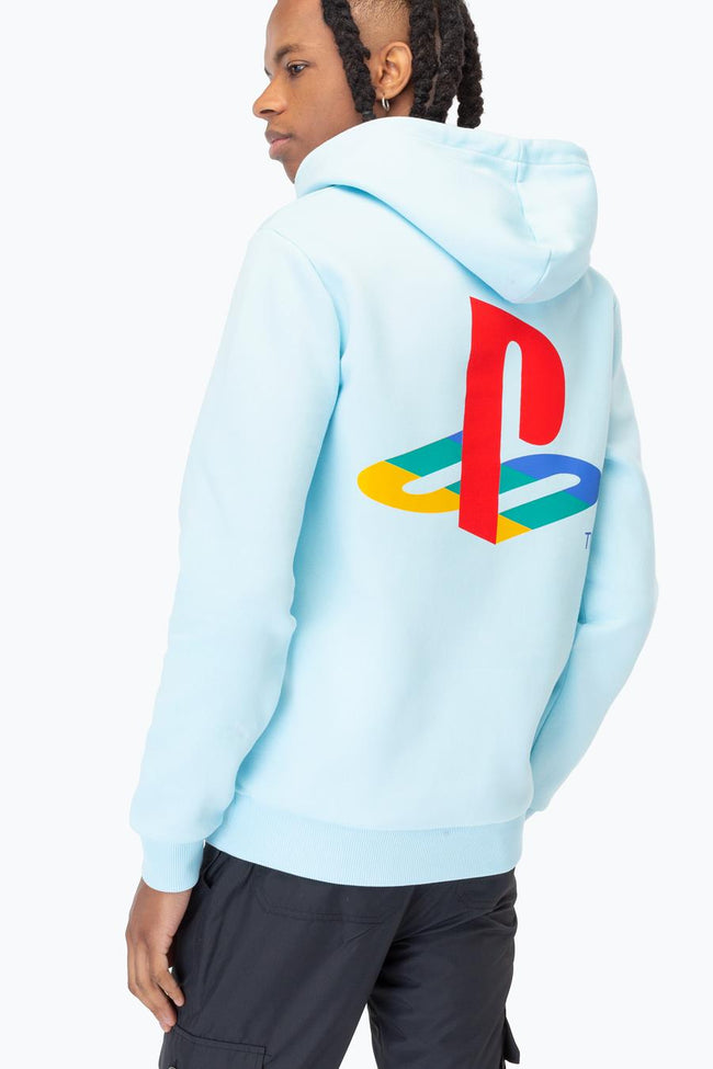 HYPE PLAYSTATION BLUE CREST MENS PULLOVER HOODIE