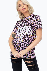 HYPE DISCO LEOPARD SCRIPT  WOMENS T-SHIRT