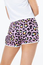 HYPE DISCO LEOPARD WOMEN'S RUNNER SHORTS
