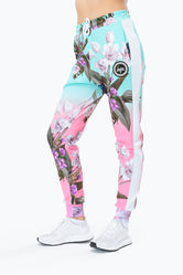 HYPE  FLORAL FADE Women's Poly Joggers