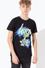 HYPE BLACK GRAFFITI CITIES KIDS T-SHIRT
