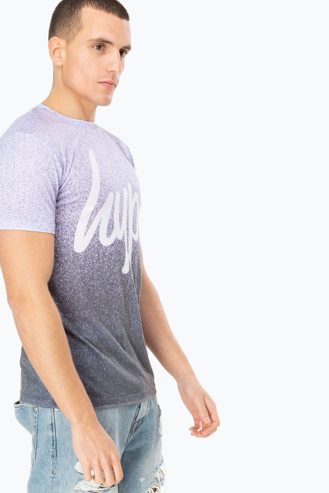 HYPE LILAC SPECKLE FADE SCRIPT MEN'S T-SHIRT