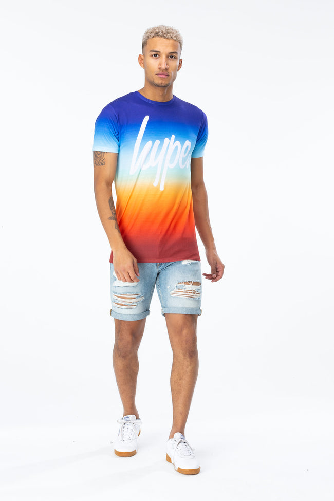 HYPE SUNDOWN FADE SCRIPT MENS T-SHIRT