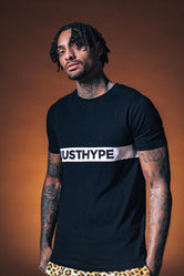 HYPE BLACK JUST HYPE STRIPE MEN'S T-SHIRT