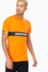 HYPE ORANGE JUST HYPE STRIPE MEN'S T-SHIRT