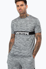 HYPE GREY JUST HYPE STRIPE MEN'S T-SHIRT