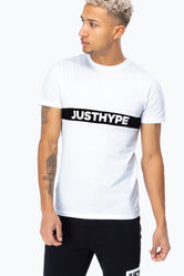 HYPE WHITE JUST HYPE STRIPE MEN'S T-SHIRT