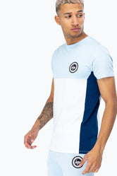 HYPE BLUE SPORTS PANEL MEN'S T-SHIRT