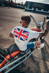 HYPE WHITE JH UNION JACK MEN'S T-SHIRT