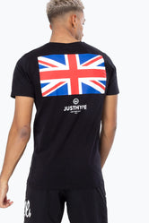 HYPE BLACK JH UNION JACK MEN'S T-SHIRT