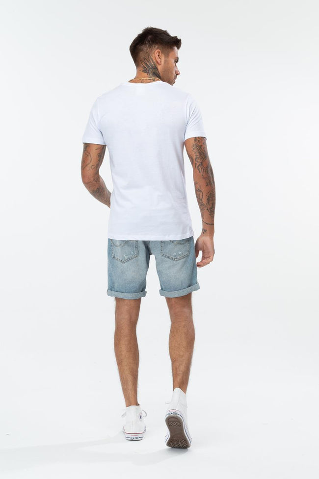 HYPE WHITE NICE TRY MENS T-SHIRT