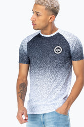 HYPE BLACK SPECKLE FADE RAGLAN MEN'S T-SHIRT