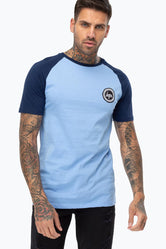 HYPE BLUE CONTRAST RAGLAN MEN'S T-SHIRT