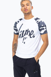 HYPE BLACK MONO CAMO RAGLAN MEN'S T-SHIRT