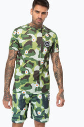 HYPE GREEN DAISY CAMO MENS T-SHIRT