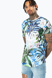 HYPE TROPICAL SCRIPT MENS T-SHIRT