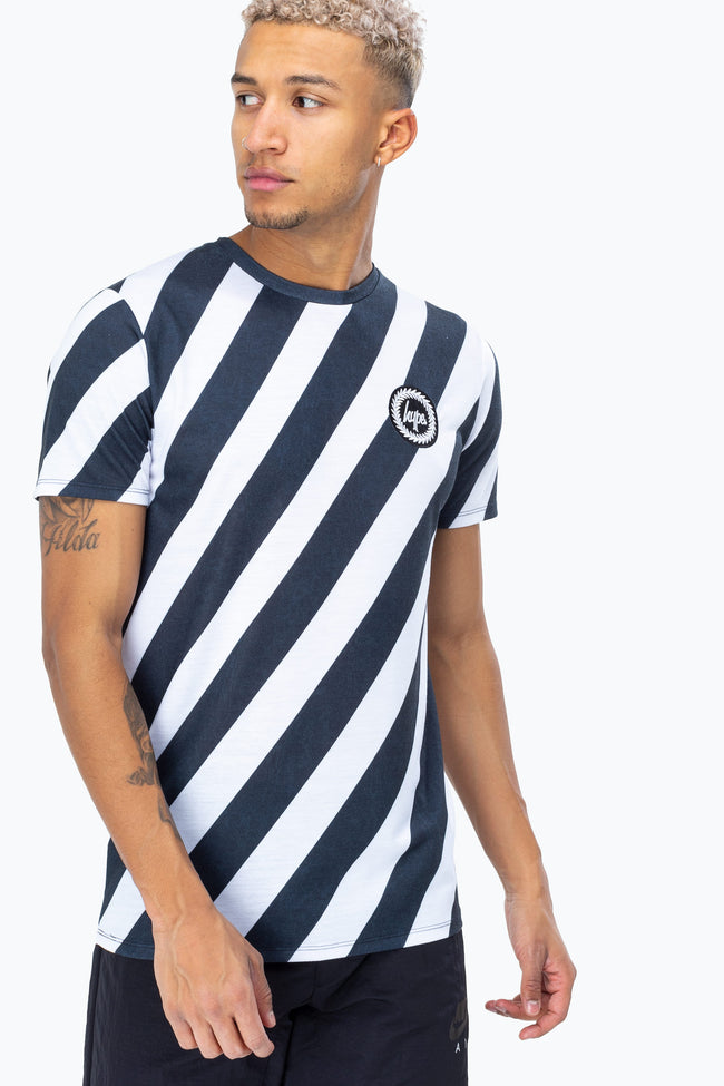 HYPE BLACK CHEVRON STRIPE MEN'S T-SHIRT
