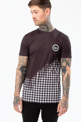 HYPE BLACK DOGTOOTH DRIPS MENS T-SHIRT
