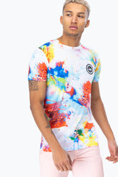HYPE RAINBOW BRUSH CREST MEN'S T-SHIRT