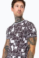 HYPE BLACK REPEAT HYPE MENS T-SHIRT