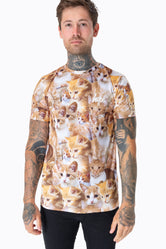 HYPE KITTENS AOP MENS T-SHIRT
