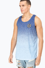 HYPE BLUE SPECKLE FADE CREST MEN'S VEST