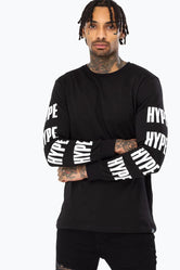 HYPE BLACK HYPE BLOCK MEN'S L/S T-SHIRT