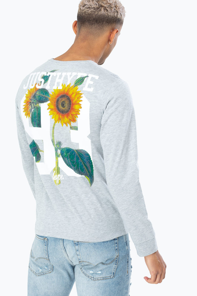 HYPE GREY SUNFLOWER 93 MENS L/S T-SHIRT