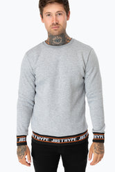 HYPE GREY JUST HYPE RIB MENS CREW NECK