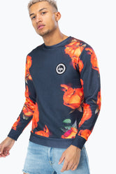 HYPE ORANGE ROSE MEN'S CREWNECK