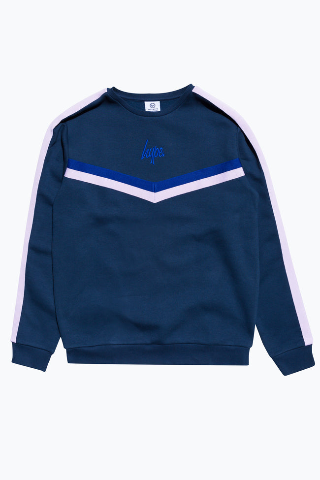 HYPE NAVY RACING LINE MENS CREW NECK
