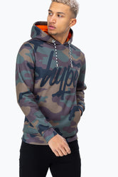 HYPE CAMO SCRIPT MENS PULLOVER HOODIE