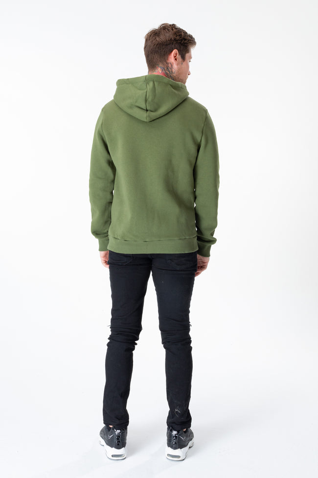 HYPE KHAKI JUST HYPE ZIP THROUGH MENS ZIP HOODIE
