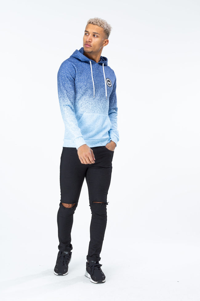 HYPE NAVY SPECKLE FADE CREST MEN'S PULLOVER HOODIE